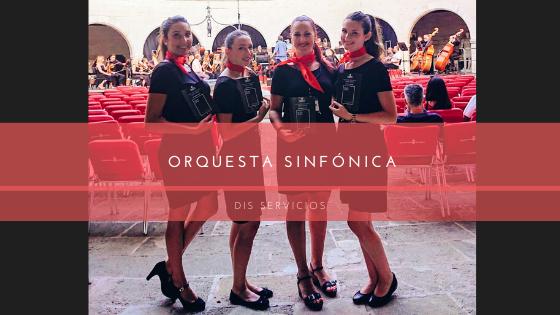 banner azafatas orquesta sinfónica